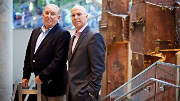 PHOTO: Jeff Flynn and John Mormando worked in lower Manhattan in the wake of the September 11 World Trade Center attacks in 2001 and they have both been diagnosed with breast cancer. (Radhika Chalasani/ABC News)