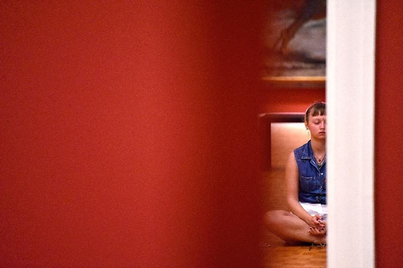 Helped by the growth in apps, a survey by the National Center for Health Statistics found 14 percent of Americans had meditated in 2017, a threefold increase in five years (AFP Photo/LOIC VENANCE)