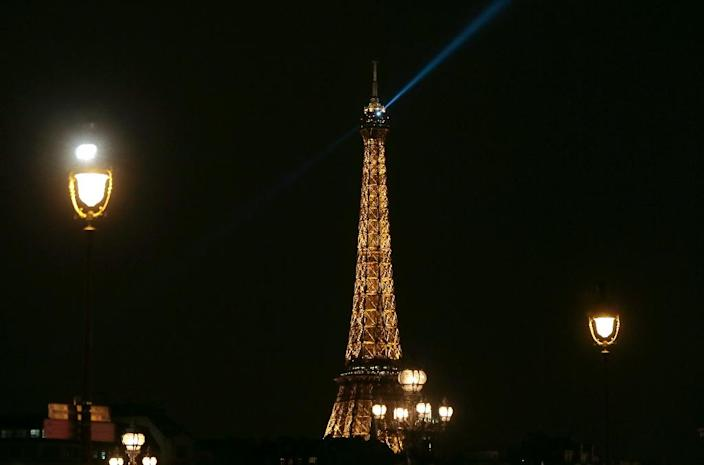 France has launched a one-million-euro programme aimed at detecting and intercepting pilotless drones that fly over Paris landmarks such as the Eiffel Tower (AFP Photo/Jacques Demarthon)
