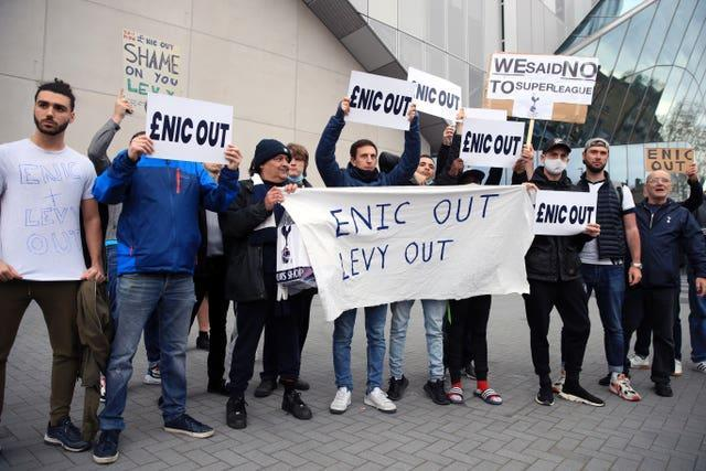 Tottenham fans are unhappy with the club's ownership
