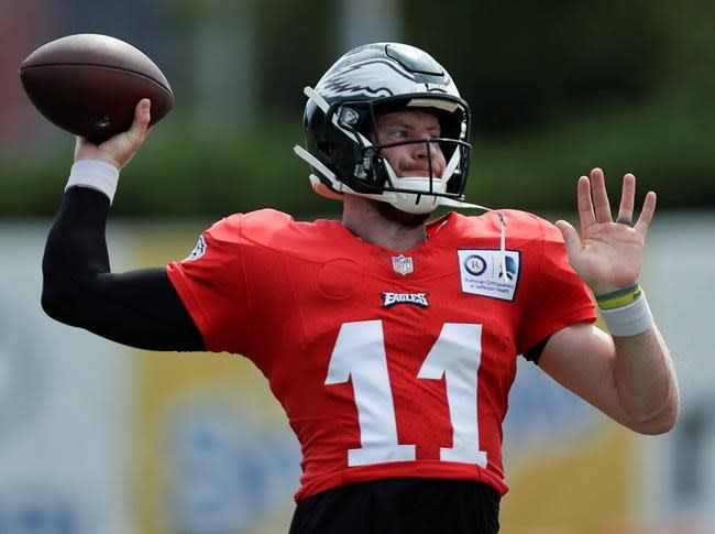 Wentz embraces leadership role, surrounded by young talent