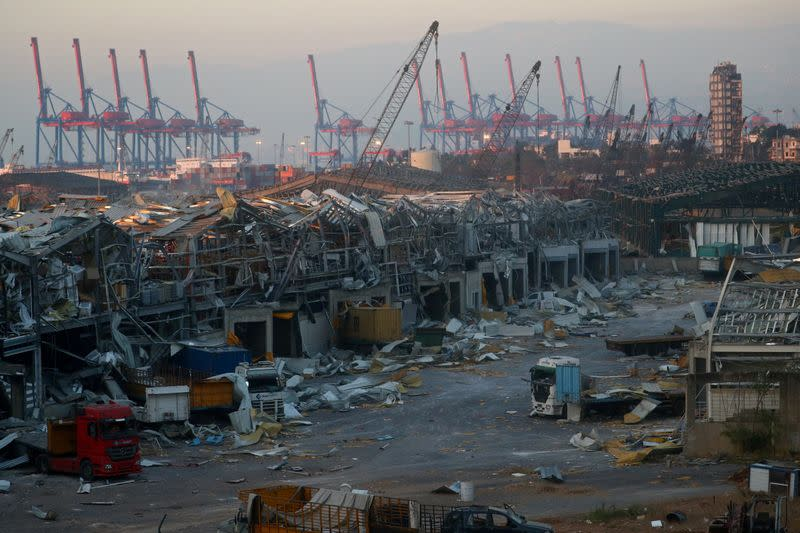 FILE PHOTO: Aftermath of Tuesday's blast in Beirut's port area, Lebanon