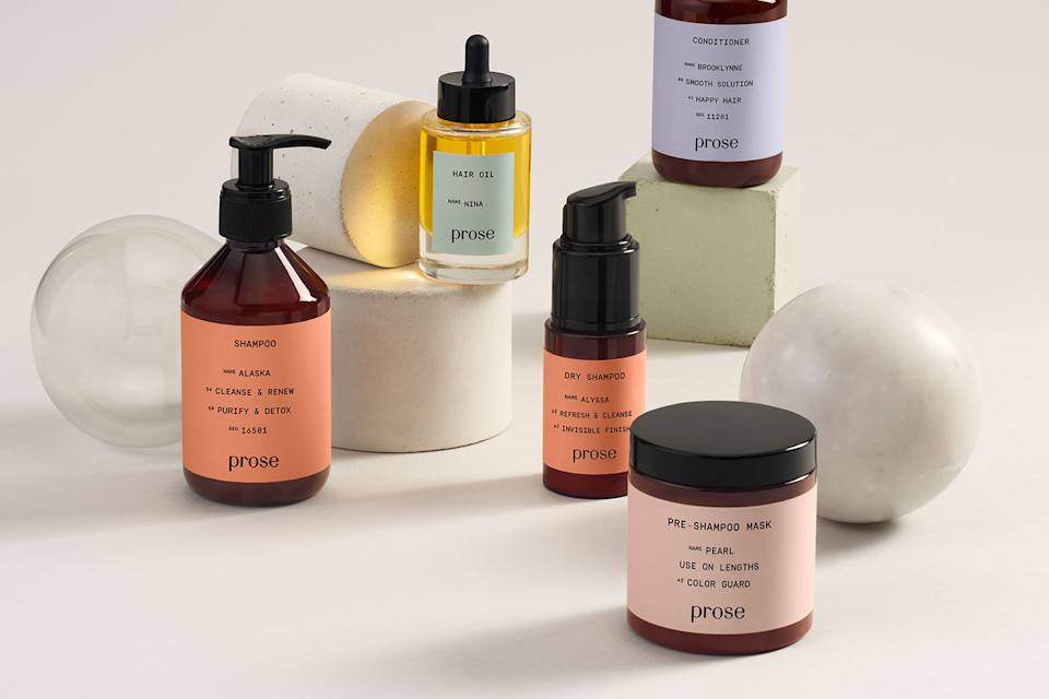 Customize a set of haircare products that replenishes when she runs out. (Credit: Prose)