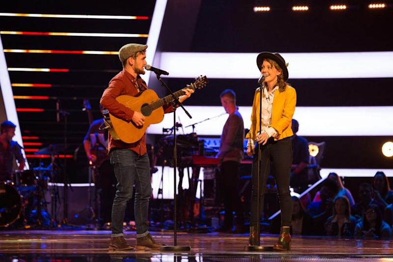 Duo: Brother and sister Tom and Abi are looking to wow the judges (ITV)