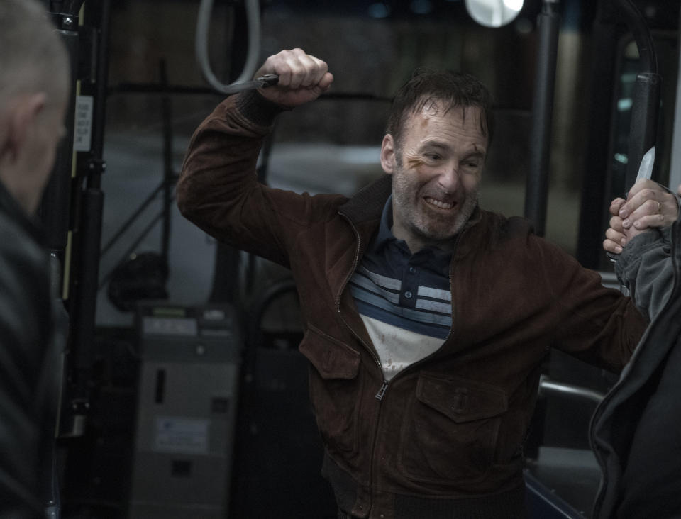 Bob Odenkirk as Hutch Mansell in Nobody, directed by Ilya Naishuller. (Universal Pictures)