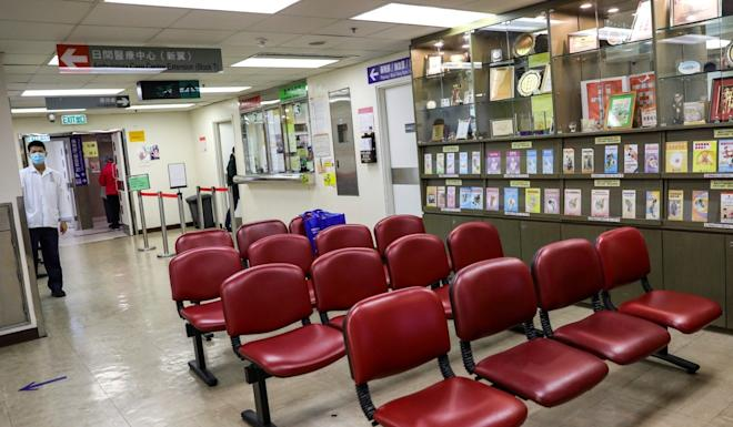 There is no sign of patients at Queen Elizabeth Hospital on Tuesday. Photo: May Tse