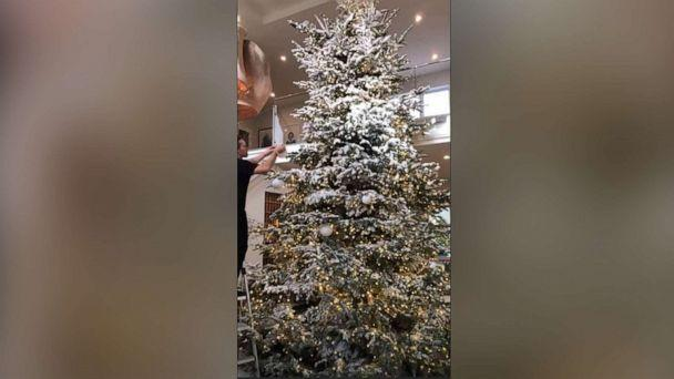 PHOTO: Kylie Jenner showed off her towering Christmas tree being set up by a team of professionals in a post on Instagram, Dec. 18, 2019. (kyliejenner/Instagram)