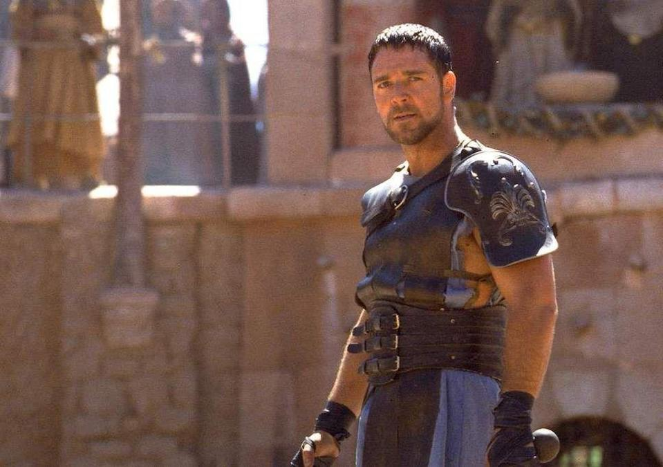 """<p>""""Are you not entertained?"""" Maximus asks a stunned-silent crowd of Roman spectators after he slays a team of much bigger and better equipped men in the arena. Incidentally, viewers of <em>Gladiator </em>absolutely were. Crowe won an Oscar for his work, and the flick temporarily revived the long-dead sword-and-sandals epic.</p>"""