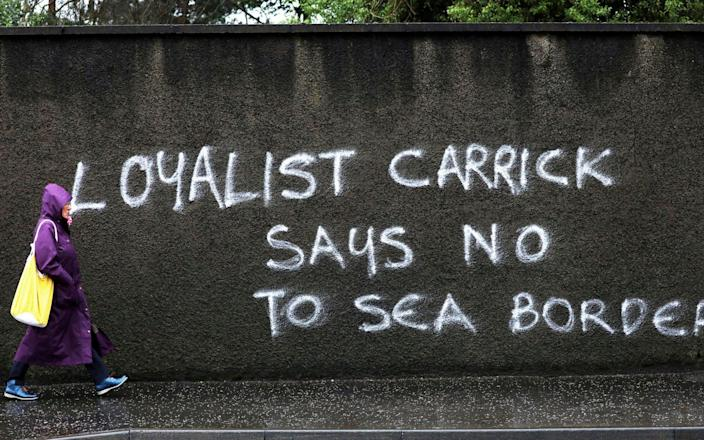 Police will be keeping an eye on graffiti as post-Brexit tensions rise - AP