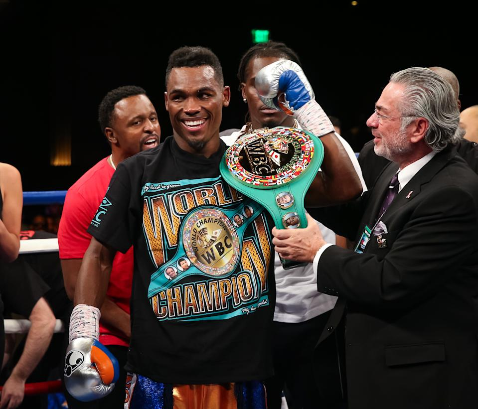 LAS VEGAS, NV - May 21, 2016: ***HOUSE COVERAGE***Jermell Charlo  pictured at Showtime Championship Boxing event at The Chelsea at The Cosmopolitan of Las Vegas in Las vegas, NV on May 21, 2016. Credit: Erik Kabik Photography/ MediaPunch/IPX