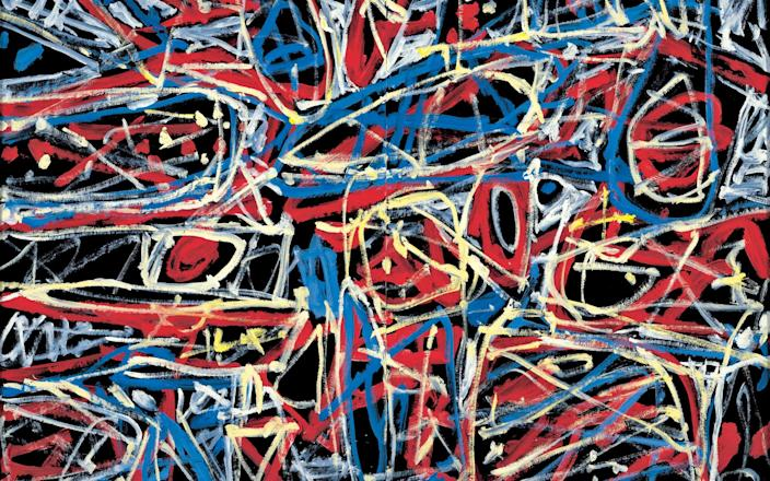 Jean Dubuffet's 1984 painting Fulfilment (Epanouissement) - Collection of Milly and Arne Glimcher © 2021 ADAGP, Paris/DACS, London, Courtesy Pace Gallery