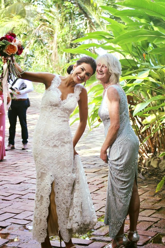 Writer Anna De Souza, with her mom, on her wedding day, January 13, 2017, in Puerto Rico.
