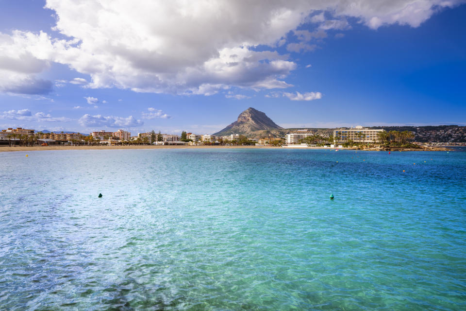 Javea Xabia Playa El Arenal beach in Alicante also ranked highly with Spanish families. (Getty Images)