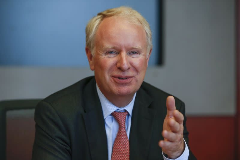 Allergan CEO Pyott speaks during an interview in New York