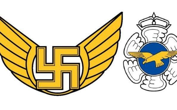 The Finnish Air Force Command emblem of a swastika has been replaced by the air force's general emblem - Finnish Ministry of Defence