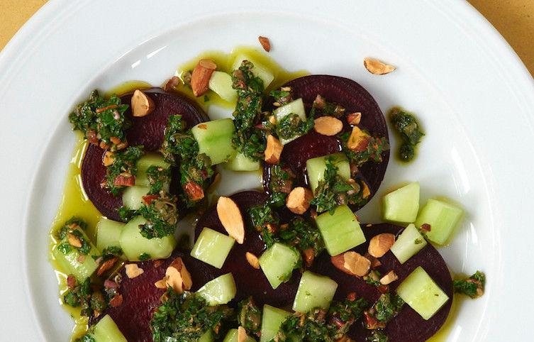 Beets and Cucumbers with Salsa Verde on Food52