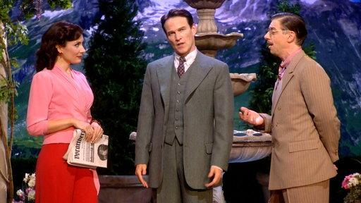 "Laura Benanti, Stephen Moyer, and Christian Borle in ""The Sound of Music Live!"""
