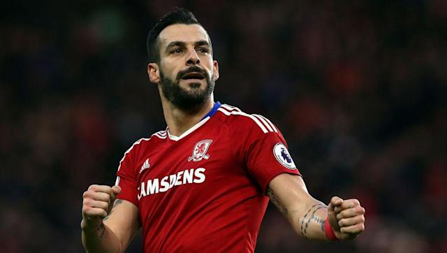 <p><strong>Team Goals:</strong> 19</p> <p><strong>Negredo's Goals: </strong>6</p> <br><p>Middlesbrough have scored a league low 19 goals so far this season, meaning that even Alvaro Negredo's relatively low tally of six still counts for nearly a third of the team's whole. Cristhian Stuani is the only other to score more than two.</p>