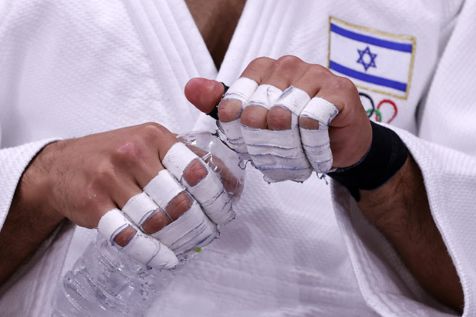 Israel's Tohar Butbul has yet to take on an opponent at the Tokyo Olympics. (Photo by Jack GUEZ / AFP) (Photo by JACK GUEZ/AFP via Getty Images)