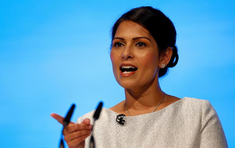 Britain's Home Secretary Priti Patel speaks at the Conservative Party annual conference in Manchester, Britain October 1, 2019. REUTERS/Henry Nicholls