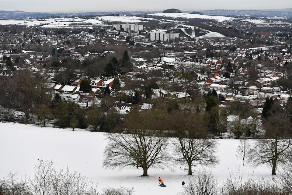 <p>Large areas of the UK were covered in snow last week</p> (PA)