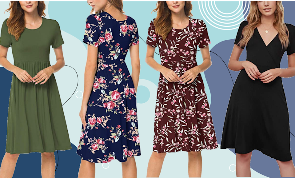 This super-flatting frock comes in 25 colors and patterns.  (Photo: Amazon)