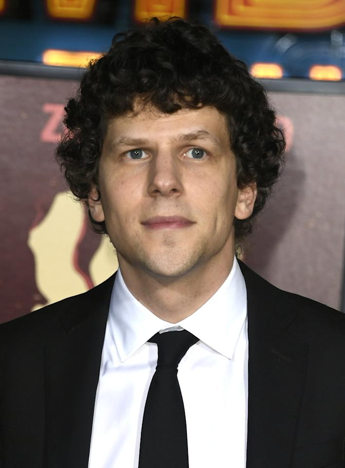 <p>Eisenberg is back as the rule-biding Columbus, who is still looking to find domesticality post-apocalyis. </p>