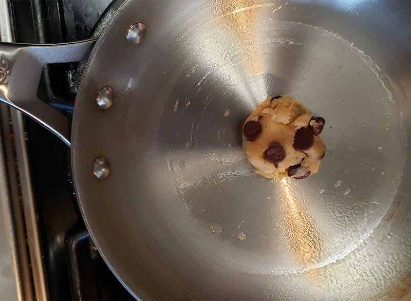 cookie in skillet on stovetop