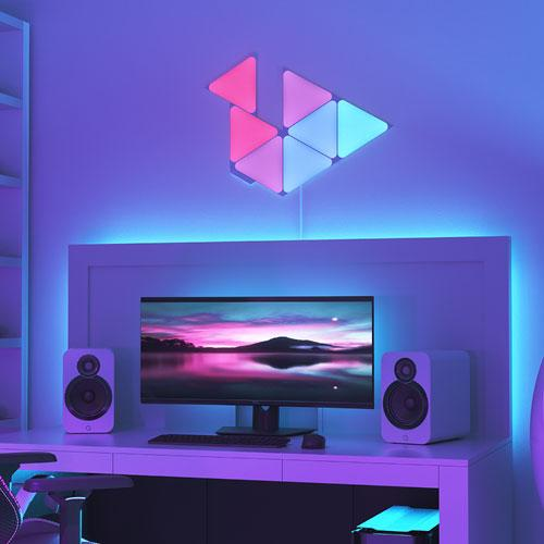 Nanoleaf Shapes Triangle Panels. Image via Best Buy.