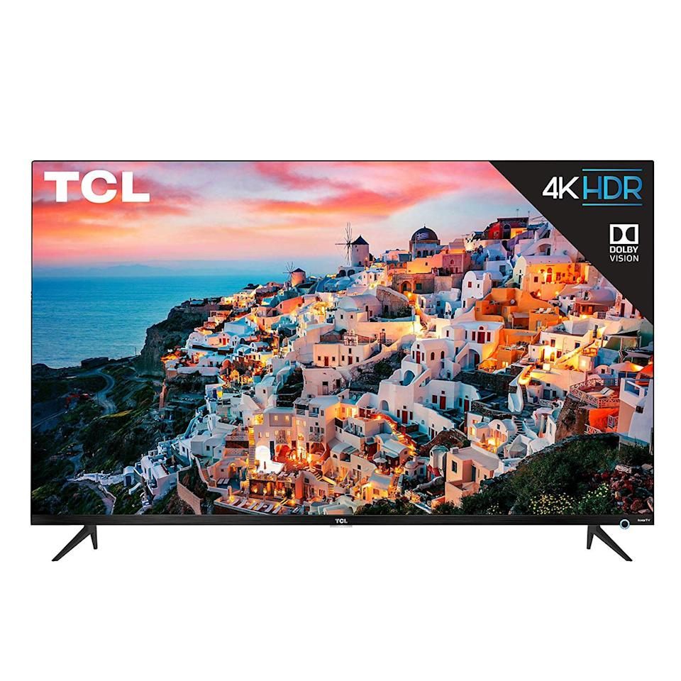 """<p><strong>TCL</strong></p><p>amazon.com</p><p><strong>$399.99</strong></p><p><a href=""""http://www.amazon.com/dp/B07S5XVD16/?tag=syn-yahoo-20&ascsubtag=%5Bartid%7C2089.g.28904564%5Bsrc%7Cyahoo-us"""" target=""""_blank"""">Shop Now</a></p><p>The latest TCL 5-Series 4K TV has a cool design, excellent picture quality, top-notch gaming performance, and a perfectly reasonable price. The brand is even <a href=""""https://www.tclusa.com/about-us/press-releases/tcl-call-of-duty-new-season"""" target=""""_blank"""">the official TV of the Call of Duty World League</a>, so the product has excellent gaming credentials. </p><p>Rather impressively, the TCL 5-Series will automatically switch to game mode when you power up your console. The feature will reduce input lag, as well as ensure that your TV's frame rate remains high for smooth gameplay. </p><p>Lastly, when not in use for gaming, the 5-Series is simply an awesome 4K TV. It has Roku's excellent smart TV platform, support for both Dolby Vision and HDR10-enhanced content, and an intuitive control with a built-in headphone jack. The TV is also available with a <a href=""""https://www.amazon.com/dp/B07S5GVH6D"""" target=""""_blank"""">43-inch</a> or <a href=""""https://www.amazon.com/dp/B07S7YLRJR"""" target=""""_blank"""">50-inch</a> display panel. </p><p><strong>More: </strong><a href=""""https://www.bestproducts.com/tech/electronics/g235/best-video-game-consoles-systems/"""" target=""""_blank"""">Top-Rated Consoles for Every Type of Gamer</a><strong></strong><strong></strong></p>"""