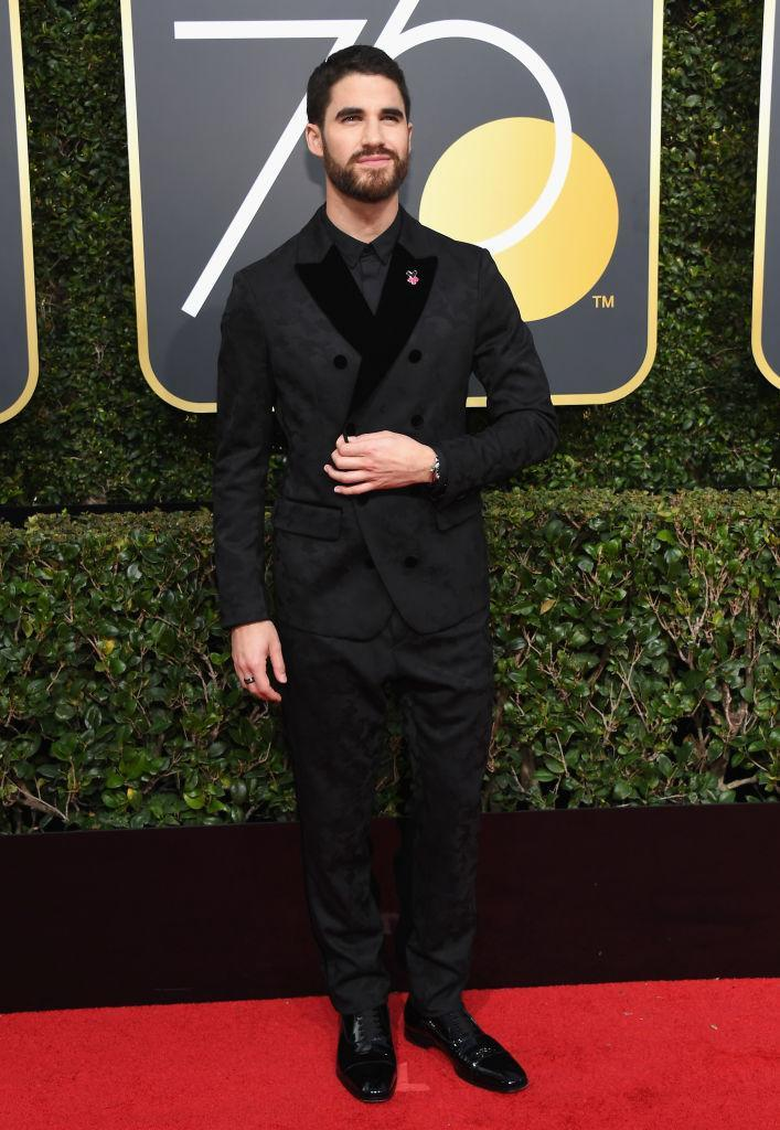 <p>The <em>American Crime Story</em> star attends the 75th Annual Golden Globe Awards at the Beverly Hilton Hotel in Beverly Hills, Calif., on Jan. 7, 2018. (Photo: Steve Granitz/WireImage) </p>