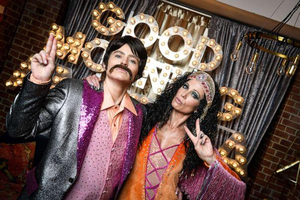 PHOTO: Sara Haines and Amy Robach boogied down as Sonny and Cher for Halloween 2019. (Tony Morrison/ABC)