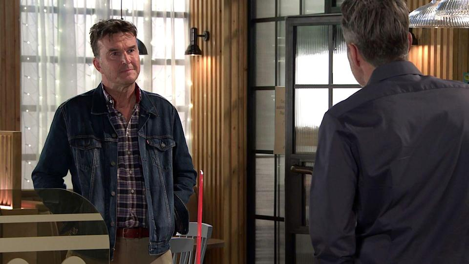 <p>He blames Johnny, who has just filled in Ray about Scott's past.</p>