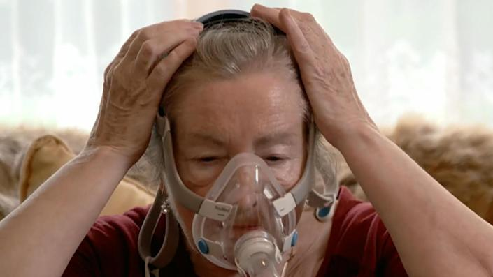 Jozefa Kozyra says that without a CPAP machine she can only get two to three hours of sleep at night. / Credit: CBS News