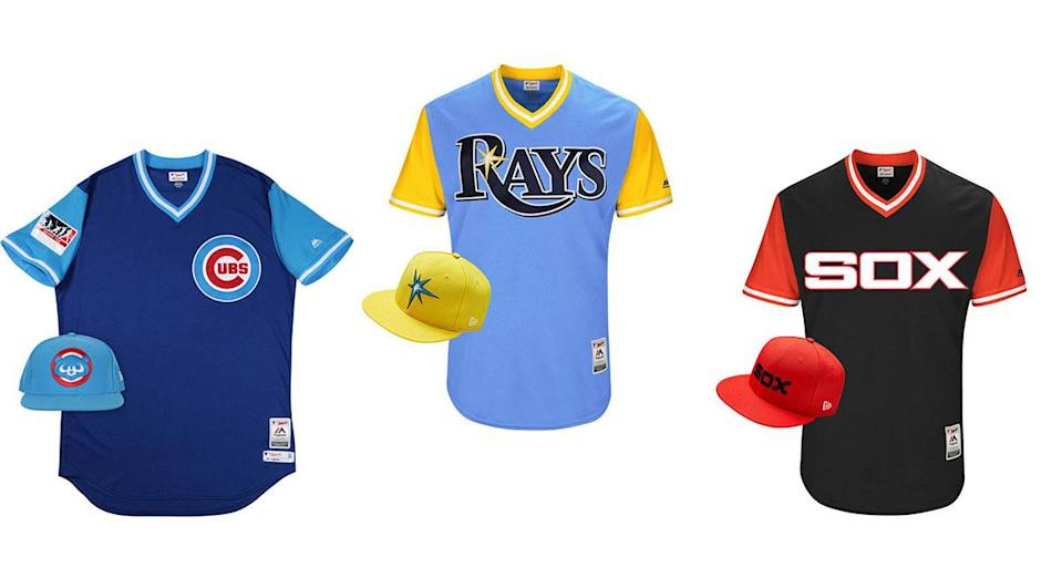 A few of the MLB Players Weekend jerseys. (MLB.com)