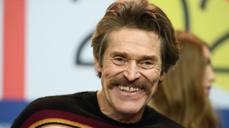 Willem Dafoe sporting a mustache we hope appears in the movie