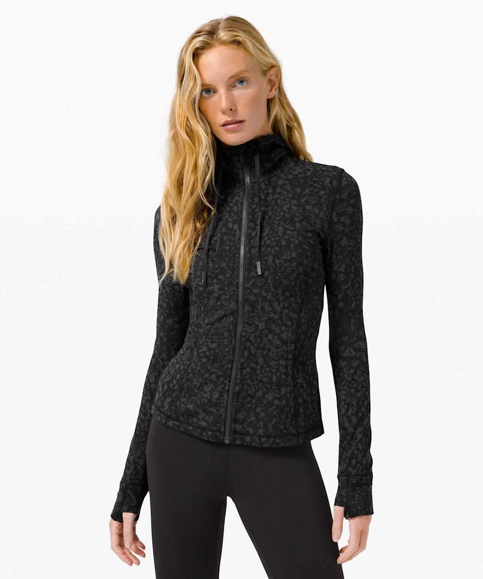 <p>This <span>Lululemon Hooded Define Jacket Nulu</span> ($99, originally $128) is super soft and easy to layer.</p>