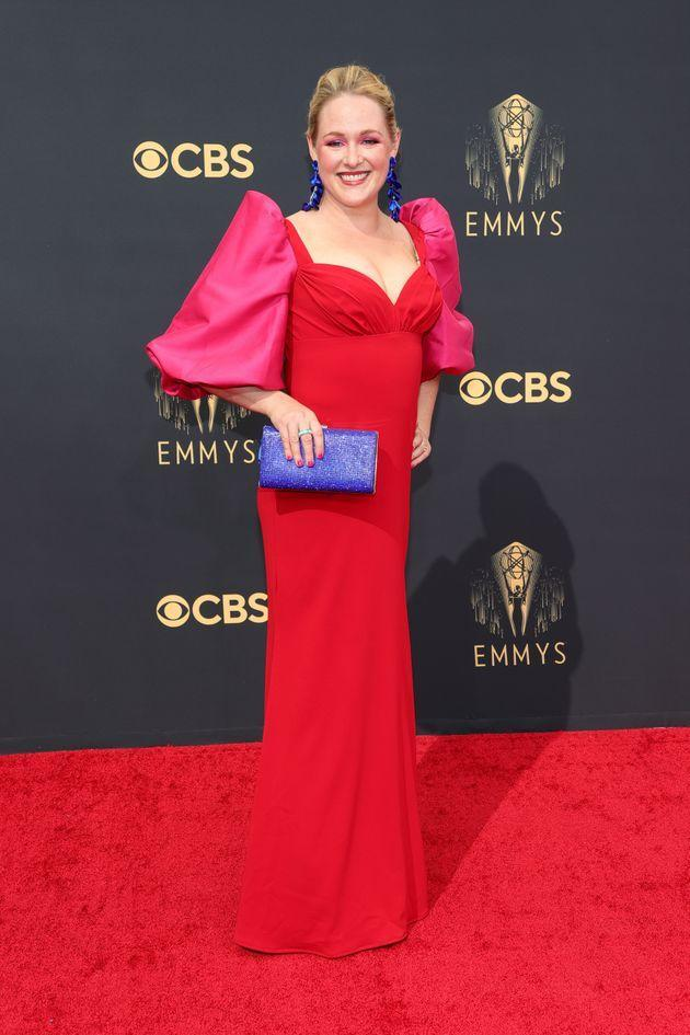 Ariel Dumas attends the 73rd Primetime Emmy Awards at L.A. Live on Sunday in Los Angeles. (Photo: Rich Fury/Getty Images)
