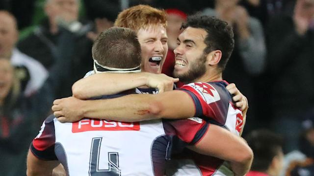Melbourne Rebels defied the odds to down Brumbies in what has been a turbulent week for the club, while Hurricanes saw off Blues.