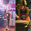 "<p>Everybody remembers Sid, the bully/toy torturer from <em>Toy Story</em>. He pops back up again in <em><a href=""https://www.youtube.com/watch?v=narYf94TaPw"" rel=""nofollow noopener"" target=""_blank"" data-ylk=""slk:Toy Story 3"" class=""link rapid-noclick-resp"">Toy Story 3</a></em><a href=""https://www.youtube.com/watch?v=narYf94TaPw"" rel=""nofollow noopener"" target=""_blank"" data-ylk=""slk:as a garbage collector"" class=""link rapid-noclick-resp""> as a garbage collector</a> — you can tell from his iconic skull tee. But is that him again in the Land of the Dead in <em>Coco</em>? Looks like it!</p>"
