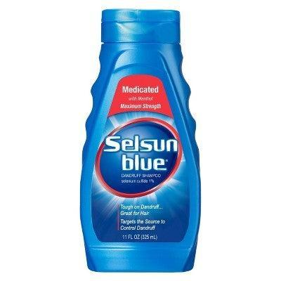 """<h2>Selsun Blue Medicated With Menthol Dandruff Shampoo</h2><br>This classic formula is also a great option for scalp relief. It has selenium sulfide solution, a topical medication used for treating scalp dermatitis and dandruff. It's also silicone- and paraben-free for those avoiding these common ingredients.<br><br><strong>Selsun Blue</strong> Selsun Blue Medicated With Menthol Dandruff Shampoo, $, available at <a href=""""https://www.target.com/p/selsun-blue-medicated-with-menthol-dandruff-shampoo-11-fl-oz/-/A-11146813?ref=tgt_adv_XS000000&AFID=google_pla_df&fndsrc=tgtao&CPNG=PLA_Beauty%2BPersonal+Care%2BShopping_Local&adgroup=SC_Health%2BBeauty&LID=700000001170770pgs&network=g&device=c&location=9067609&ds_rl=1246978&ds_rl=1247077&ds_rl=1246978&gclid=EAIaIQobChMIjOfM5Zmk5wIVR4VaBR2pzw0MEAQYASABEgLya_D_BwE&gclsrc=aw.ds"""" rel=""""nofollow noopener"""" target=""""_blank"""" data-ylk=""""slk:Target"""" class=""""link rapid-noclick-resp"""">Target</a>"""