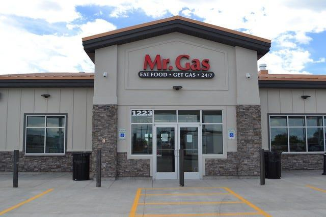 At Mr. Gas Travel Center, Jerome, Idaho, customers can order street tacos, rotisserie chicken and other treats from food trucks located inside the store.