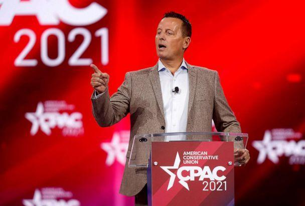 PHOTO: Ric Grenell, former acting director of U.S. National Intelligence speaks at the Conservative Political Action Conference (CPAC) in Orlando, Fla., Feb. 27, 2021. (Octavio Jones/Reuters)