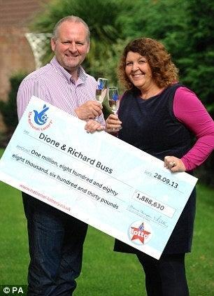 Dione Buss from Bridgwater in Somerset won £1,888,630 on September 28 2013 (© PA)