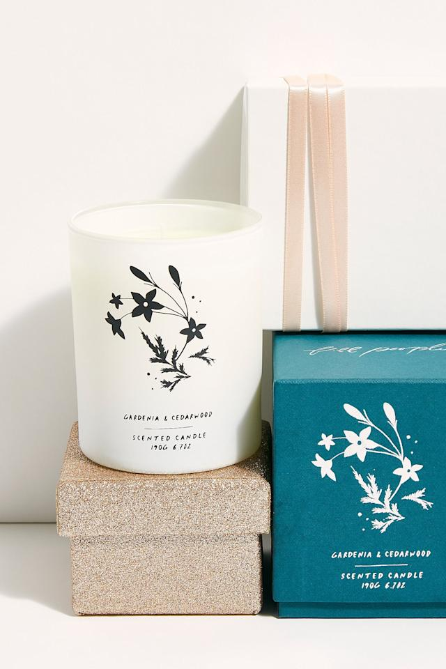 "<p>This <a href=""https://www.popsugar.com/buy/Free-People-Gardenia-Cedarwood-Candle-527165?p_name=Free%20People%20Gardenia%20%2B%20Cedarwood%20Candle&retailer=freepeople.com&pid=527165&price=38&evar1=fab%3Aus&evar9=45460327&evar98=https%3A%2F%2Fwww.popsugar.com%2Ffashion%2Fphoto-gallery%2F45460327%2Fimage%2F46978016%2FFree-People-Gardenia-Cedarwood-Candle&list1=shopping%2Cgifts%2Cfree%20people%2Choliday%2Cgift%20guide%2Cgifts%20for%20women&prop13=api&pdata=1"" rel=""nofollow"" data-shoppable-link=""1"" target=""_blank"" class=""ga-track"" data-ga-category=""Related"" data-ga-label=""https://www.freepeople.com/shop/free-people-gardenia-cedarwood-candle/?category=gifts-shop-all&amp;color=000"" data-ga-action=""In-Line Links"">Free People Gardenia + Cedarwood Candle</a> ($38) always makes for a great present.</p>"