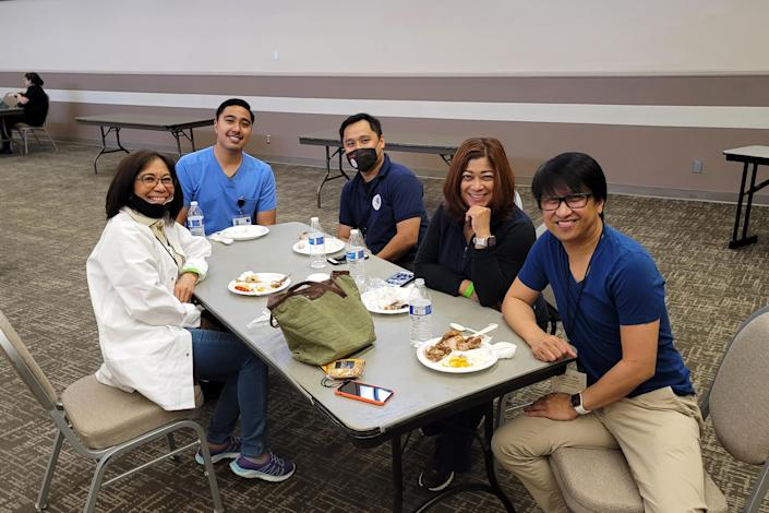 Image: On June 5, community leaders helped with a pop up vaccination clinic in Carson, California. (Fred Docdocil)