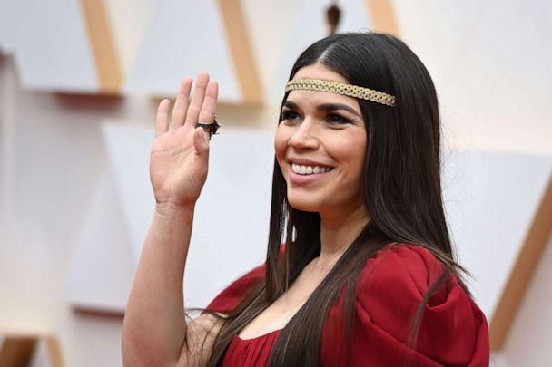 PHOTO: America Ferrera arrives for the Oscars in Hollywood, Calif., Feb. 9, 2020. (Robyn Beck/AFP/Getty Images)