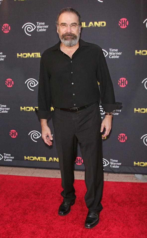 "Mandy Patinkin attends the Season 2 premiere of ""Homeland"" hosted by Time Warner Cable & Showtime at the Intrepid Sea-Air-Space Museum on September 7, 2012 in New York City."