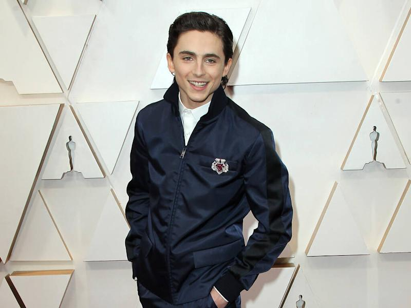 Timothee Chalamet makes sartorial statement in Prada suit at 2020 Oscars
