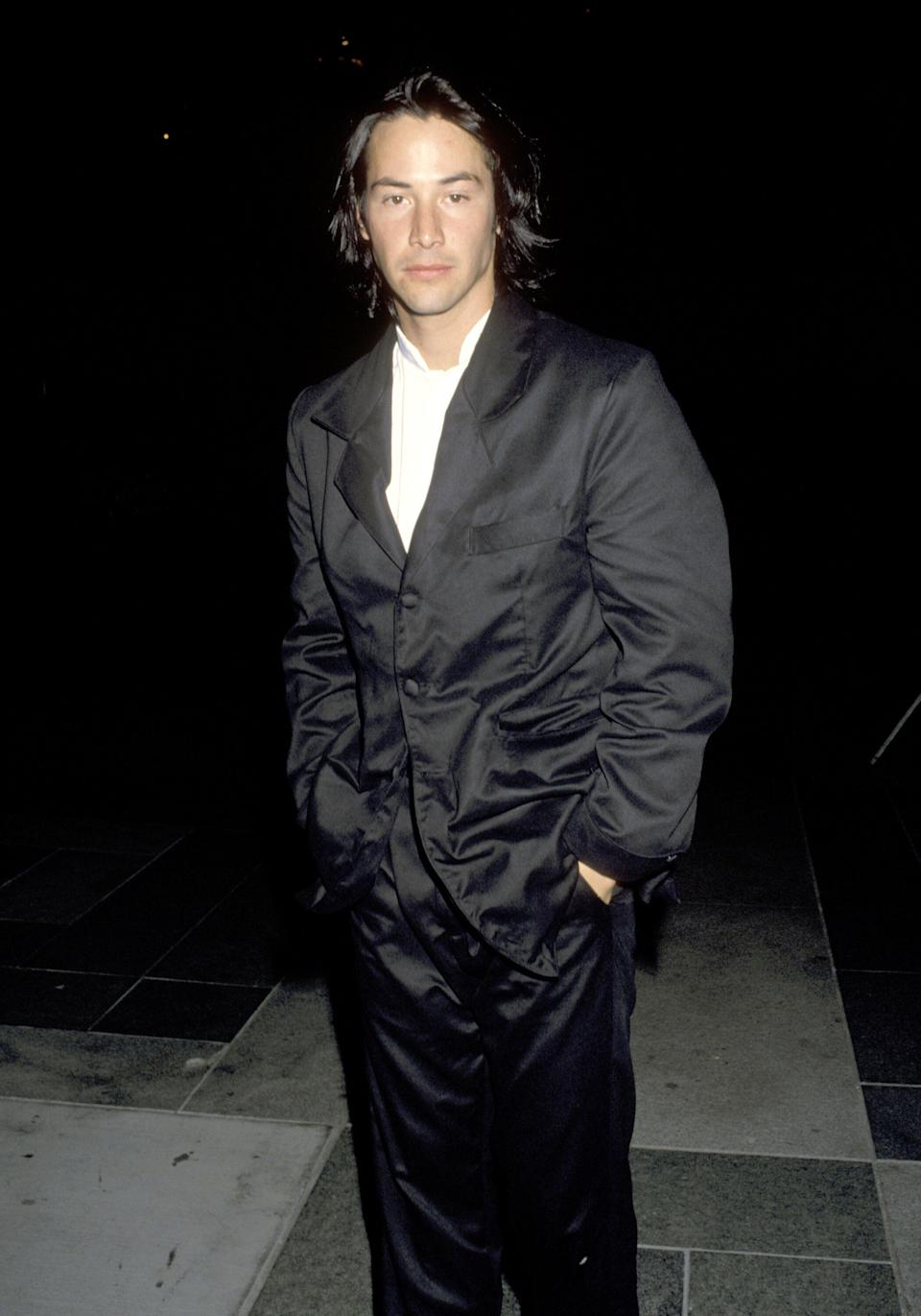 """Reeves at the """"Much Ado About Nothing"""" premiere in Los Angeles."""